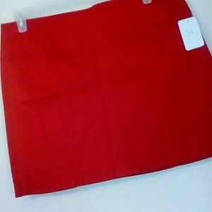 New! RED SKIRT, Size 14